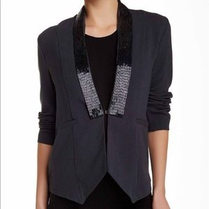New with tags!  Elodie Beaded Lapel Blazer